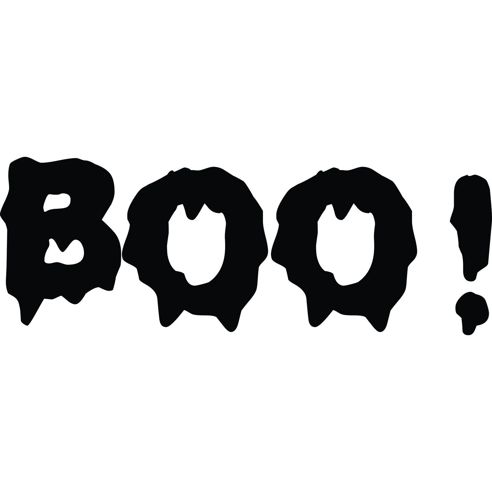 Wall Stickers Frames Boo Halloween Wall Sticker World Of Wall Stickers
