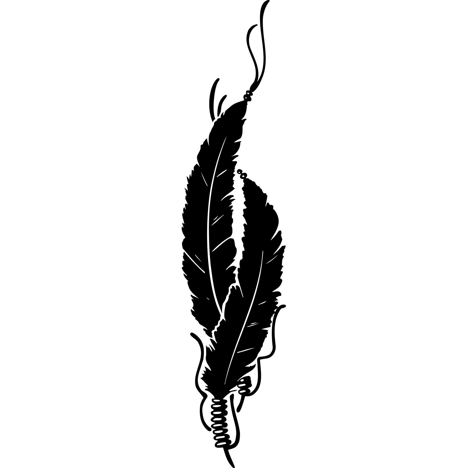 Native American Indian Feathers Wall Sticker - World of ...