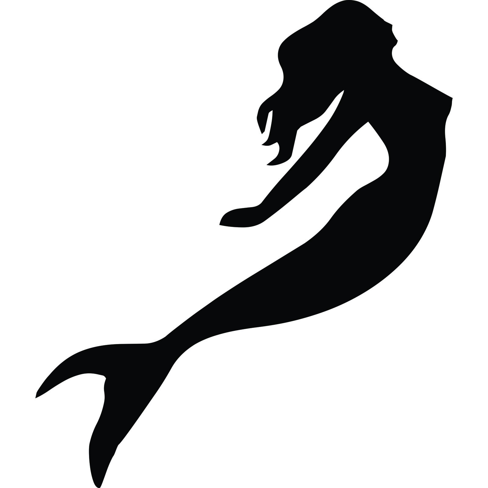 Wall Art Stickers For Bathroom Mermaid Silhouette Wall Sticker World Of Wall Stickers