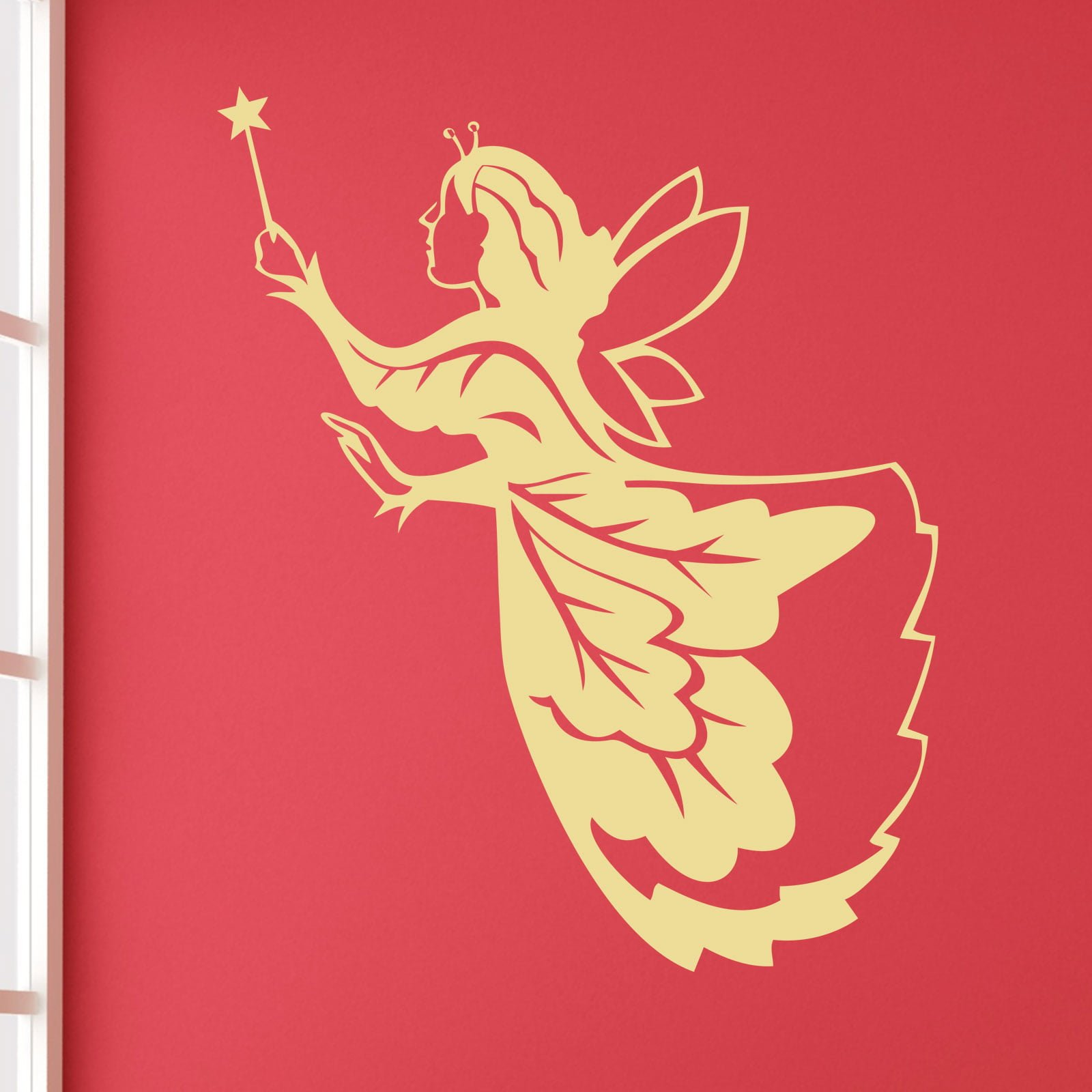 Fairy Princess Wall Stickers Fairy Godmother Fairytale Kids Girls Wall Sticker World