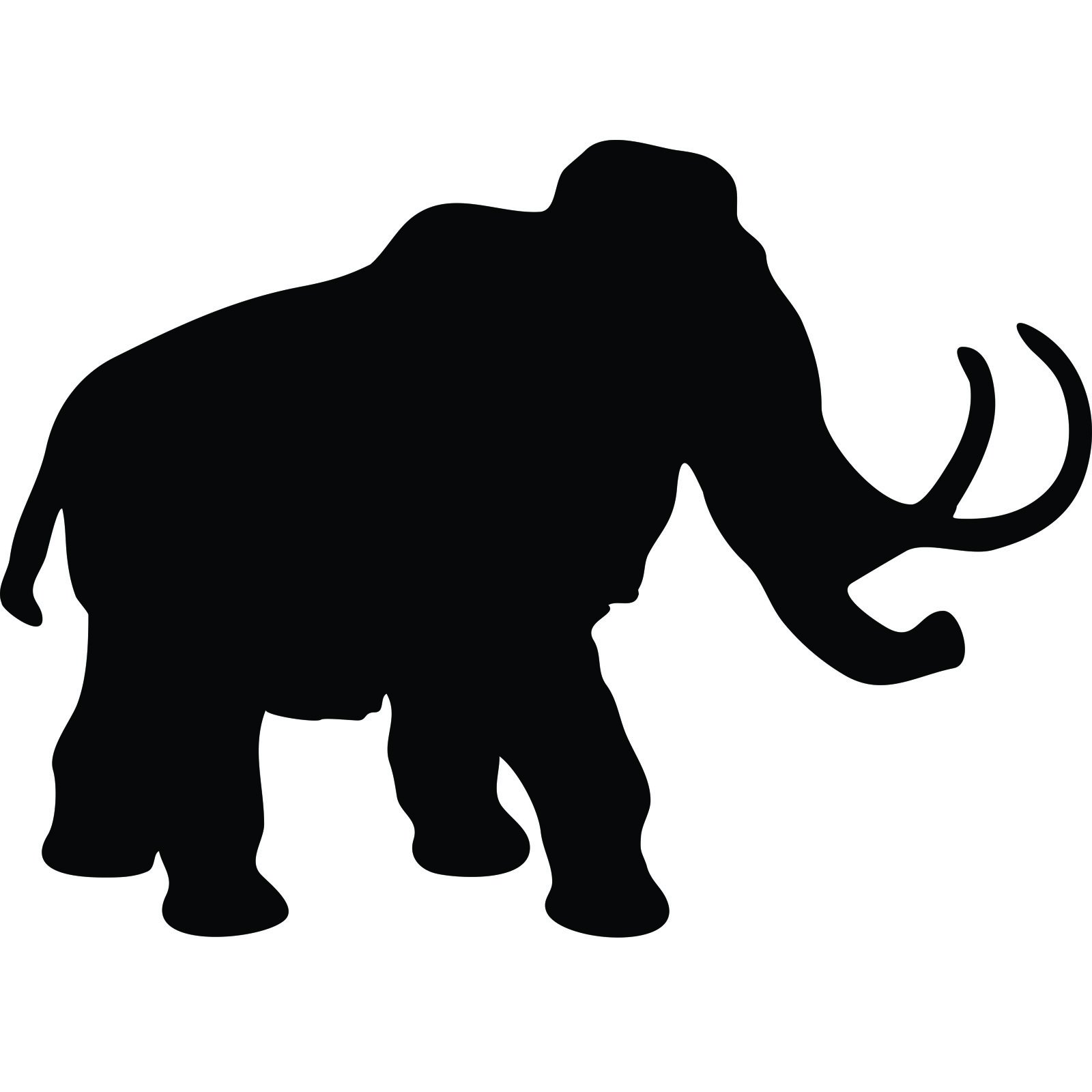 Wall Stickers Frames Wooly Mammoth Wall Sticker World Of Wall Stickers