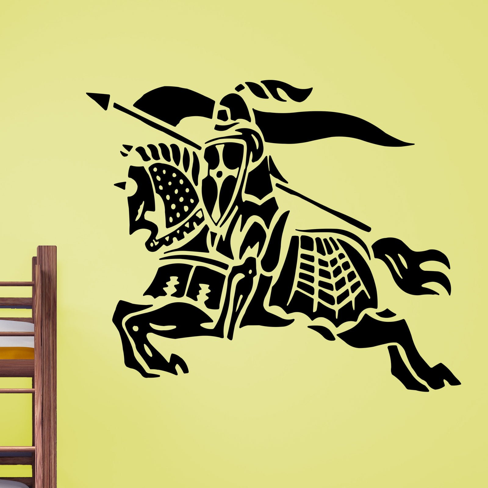 Knight Riding on his Horse Wall Sticker - World of Wall Stickers