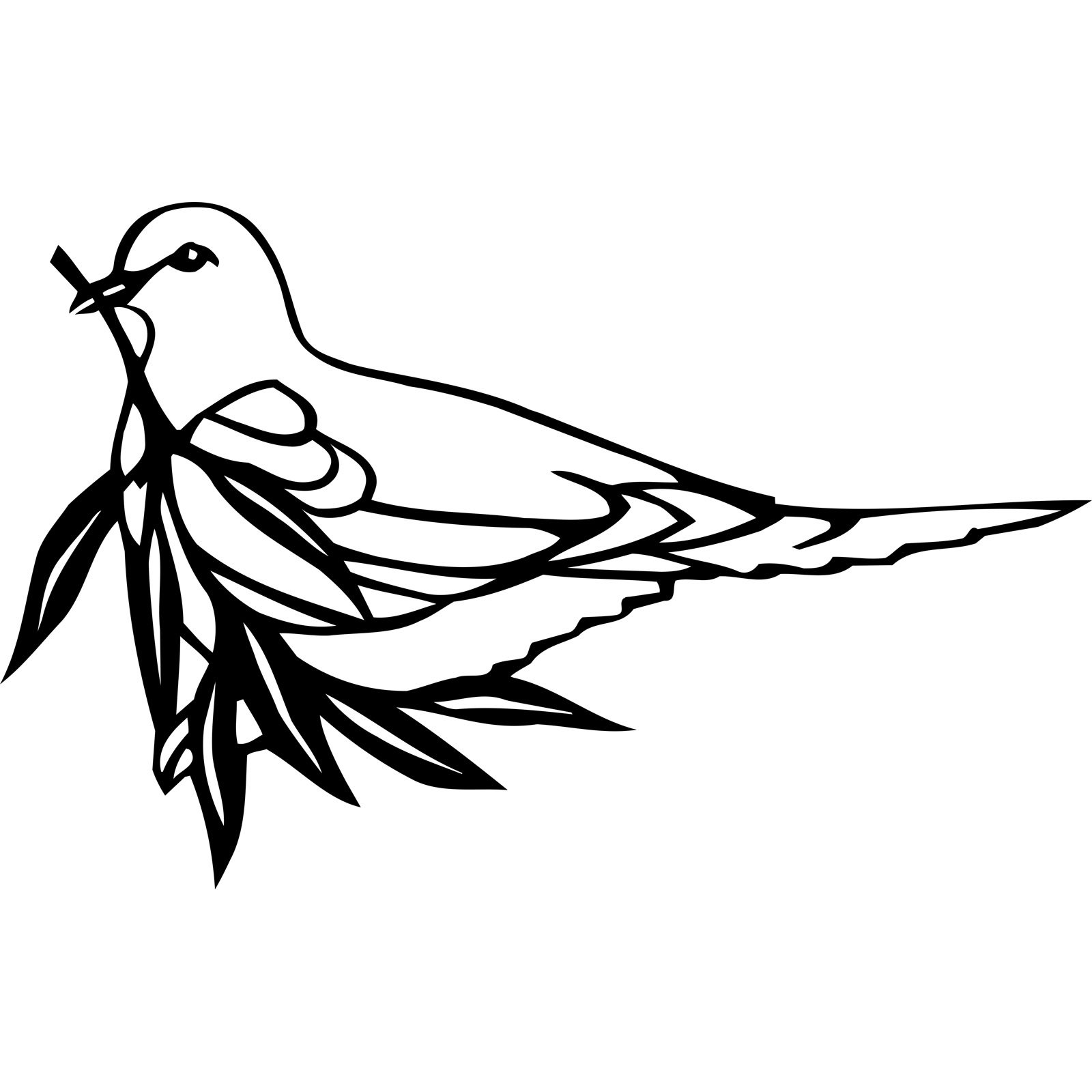 dove holding olive branch bird wall sticker world of wall stickers